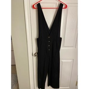 Sienna sky black button up jumpsuit, medium